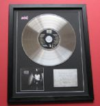 JANET JACKSON - Rhythm Nation 1814 CD / PLATINUM PRESENTATION DISC